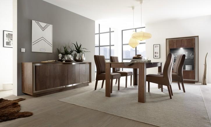 Esszimmer Set Sero mit Esstisch 4 Stühle Eiche cognac