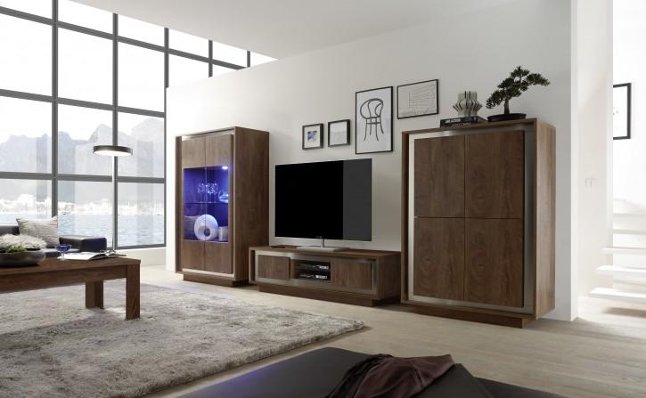 Wohnzimmer Set Sero in eiche cognac