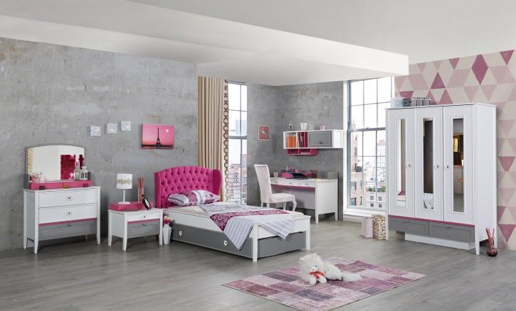 Mädchenzimmer Kinderzimmer Laila in Weiß Pink