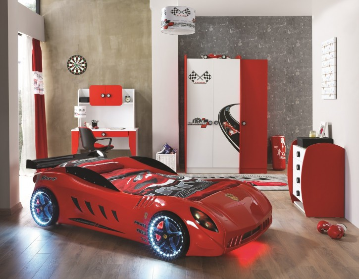 Racer Shark Autobett Kinderzimmer 5-teilig