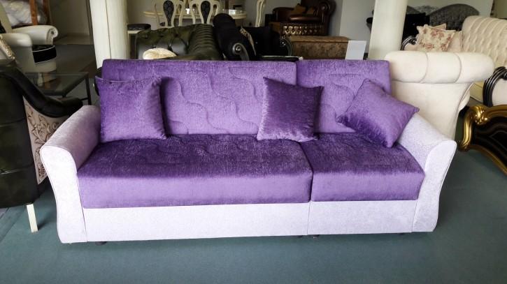 Couch Vio Sofagarnitur mit Schlaffunktion in lila Nur Abholung !