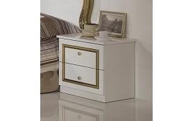 Nachtkonsole ELISA in weiss GOLD klassische Möbel