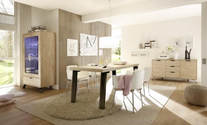 Esszimmer Set Pana in eiche 3tlg. Esstisch Tisch
