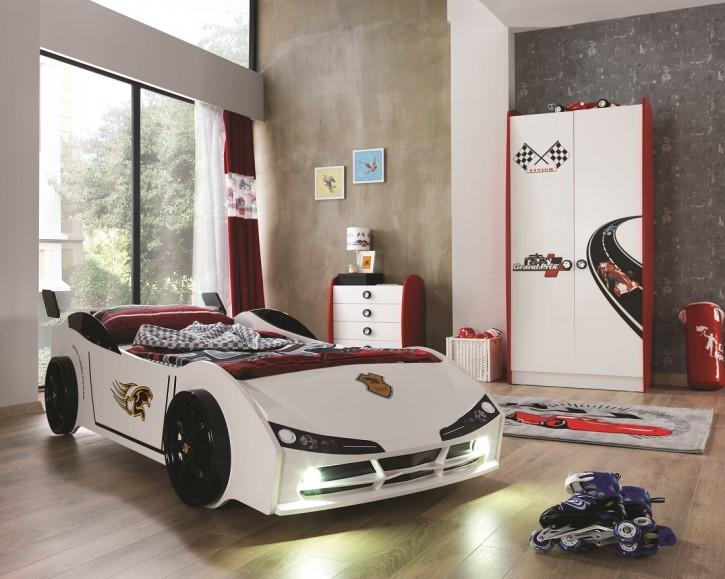 Kinderzimmer Racer mit Autobett 3 teilig