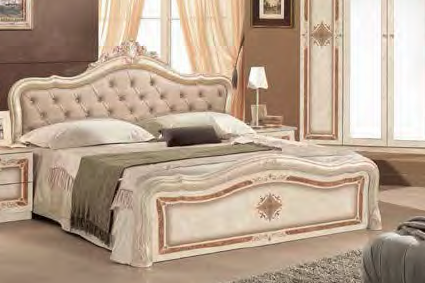 bett lucy 180x200 cm beige creme luxus k nig polsterung le. Black Bedroom Furniture Sets. Home Design Ideas
