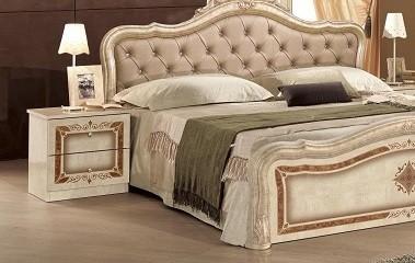Nachtkonsole in beige Lucy für Schlafzimmer Klassik Traum