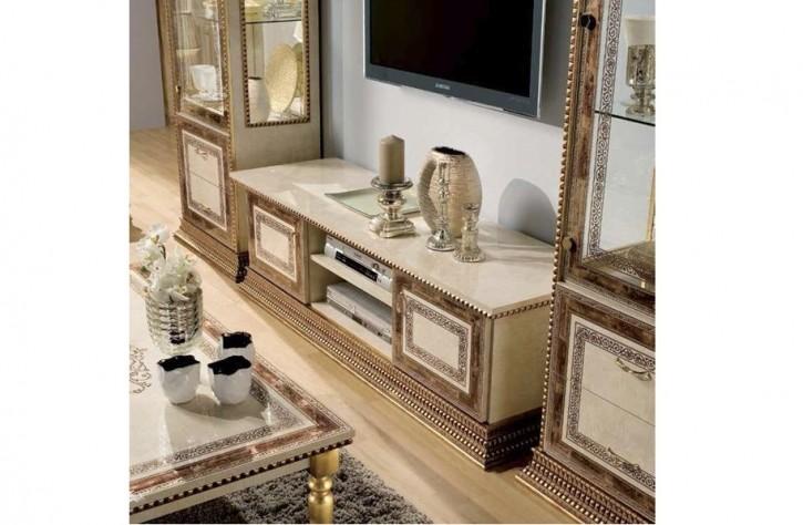 TV Schrank Jenny beige gold Luxus Möbel Stilmöbel Italienisch