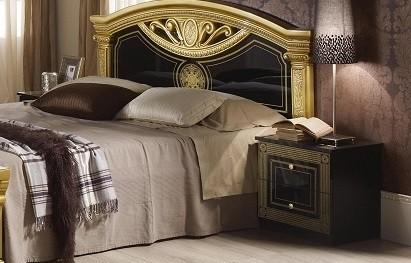Nachtkonsole Rana in schwarz gold Klassik Barock Stil