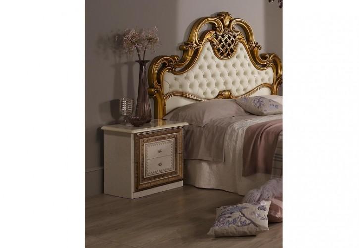 Nachtkonsole Anja beige für Schlafzimmer Italienische Möbel Klas