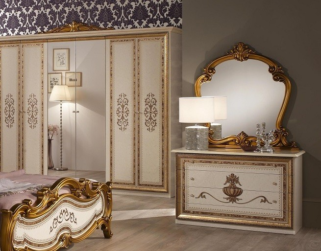 kommode mit spiegel beige anja italien barock luxus klassik bonn ani b como spech. Black Bedroom Furniture Sets. Home Design Ideas
