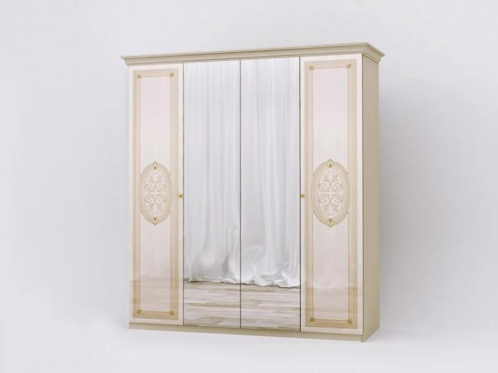 Kleiderschrank Lana beige creme klassisch Barock Stilmöbel
