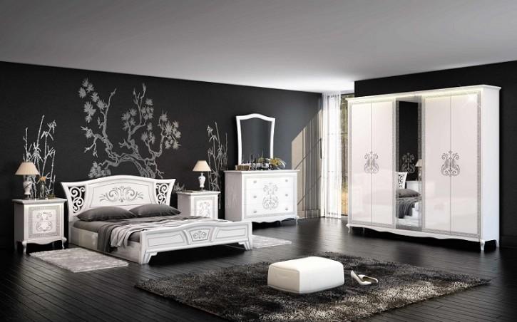 Schlafzimmer Via weiss creme modern klassisch