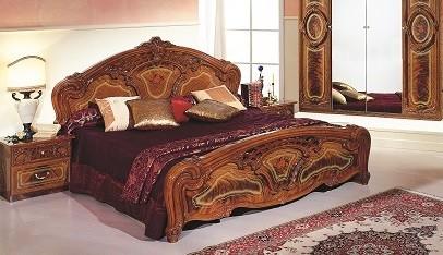 bett 160x200 cm rozza walnuss klassisch barockstil id rz bed160wn. Black Bedroom Furniture Sets. Home Design Ideas