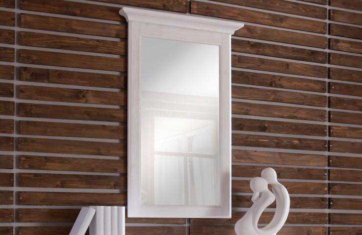 Spiegel für Kommode Christa im Landhausstil in weiss Pinie Massi