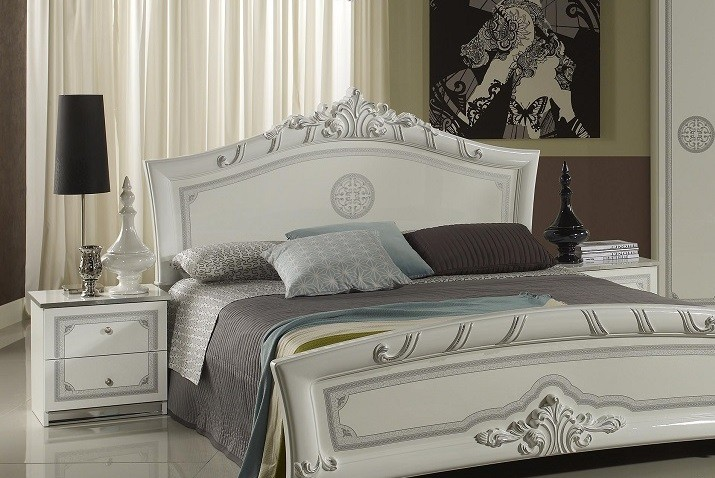 nachtkonsole great weiss silber italienisch klassisch. Black Bedroom Furniture Sets. Home Design Ideas