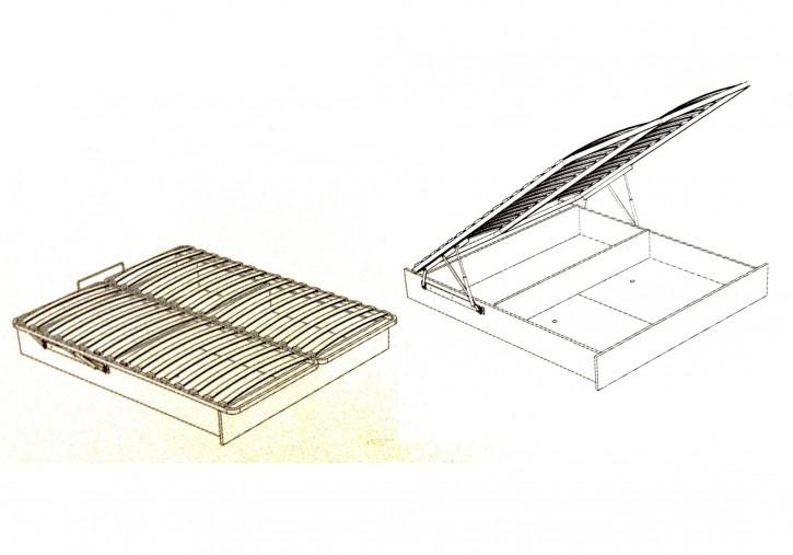 Bettkasten für Bett 180x200cm Stauraum Baza Lattenrost