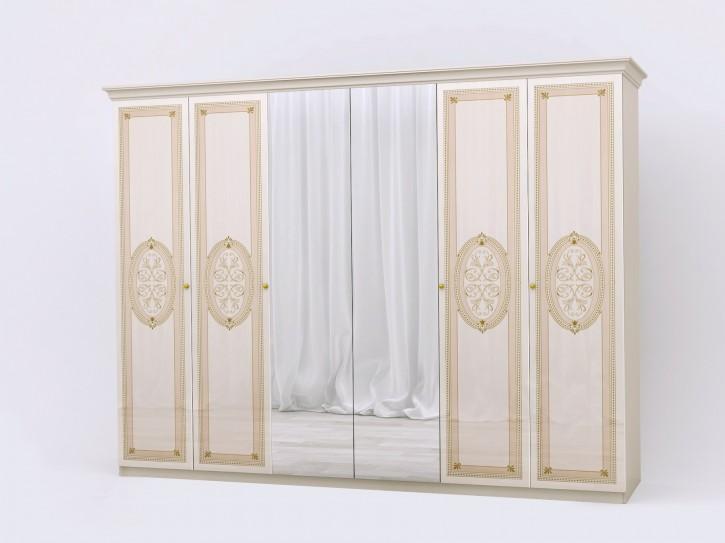 Kleiderschrank 6 trg Lana beige KlassiK Stil Barock Schrank