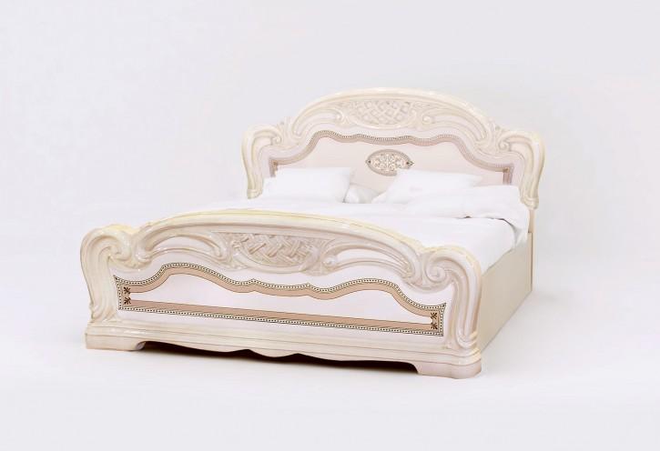 Bett Lana 180 x 200 cm beige creme klassisch Barock Stilmöbel
