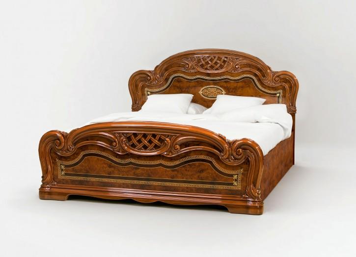 Bett Lana 160 x 200 cm in walnuss klassisch Barock Stilmöbel
