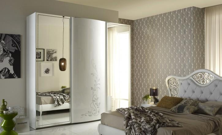 Kleiderschrank  Harmony weiss creme Luxus Moderne Möbel