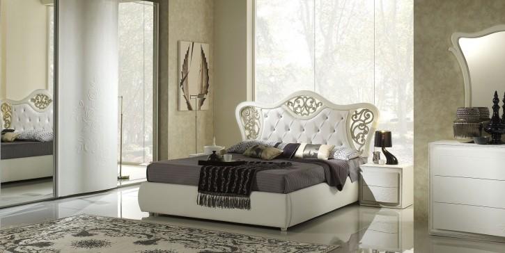 Stauraumbett Harmony Bett 160x200 in weiss creme Polsterbett