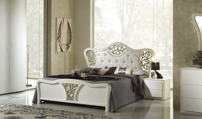 bett harmony 160x200 in weiss creme luxus xp pfchal116. Black Bedroom Furniture Sets. Home Design Ideas