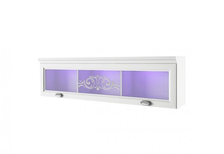Wandvitrine Via in weiß mit LED für Wohnzimmer