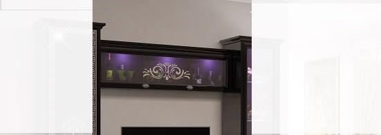 Wandvitrine Via in schwarz mit LED für Wohnzimmer