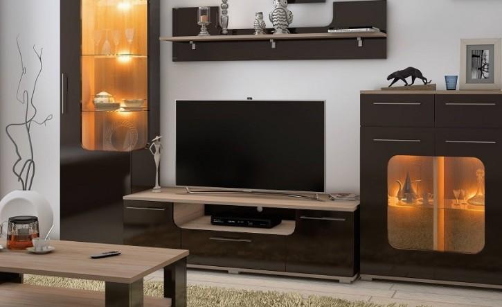 Tv Unterschrank Tera In Braun Fr Wohnzimmer