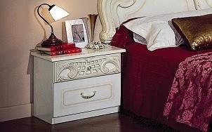 Nachtkonsole Rozza beige creme Italien Klassik Barock Design
