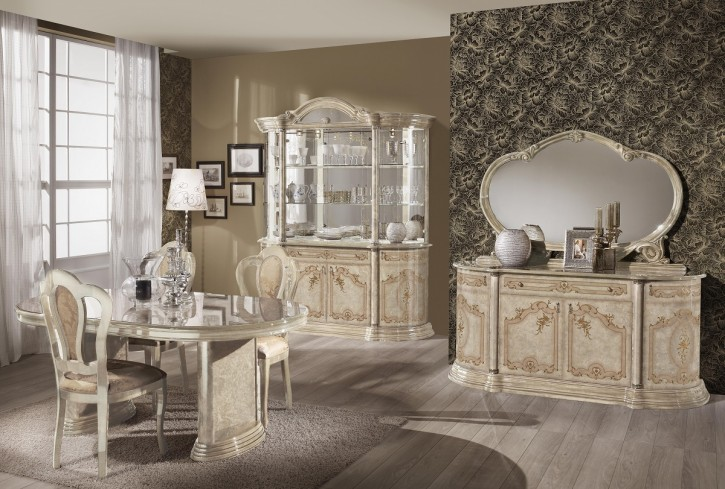 esszimmer rozza beige klassisch barock mit stuhl tisch roz ess set. Black Bedroom Furniture Sets. Home Design Ideas