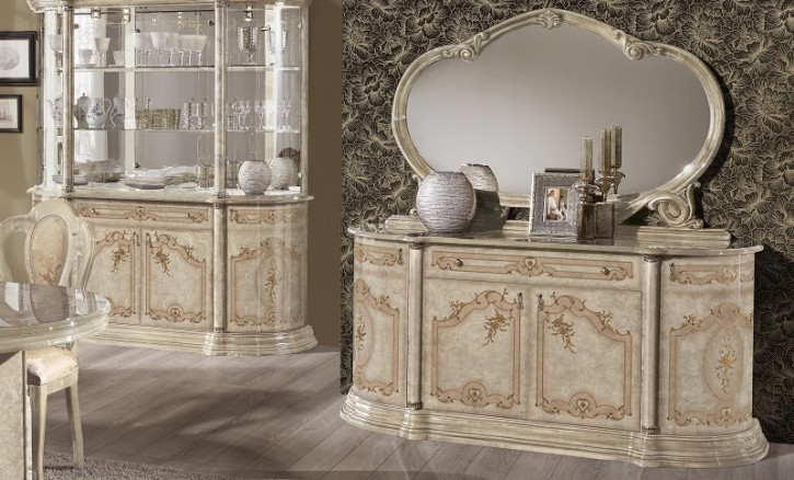 kommode rozza mit spiegel in beige buffetschrank barock 37. Black Bedroom Furniture Sets. Home Design Ideas
