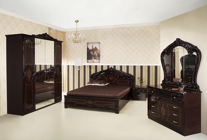 Schlafzimmer Rozza mahagoni klassisch 160x200 cm Barock
