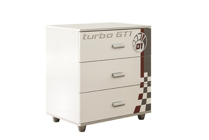 Wäschekommode Turbo GT in weiss grau für Autobetten