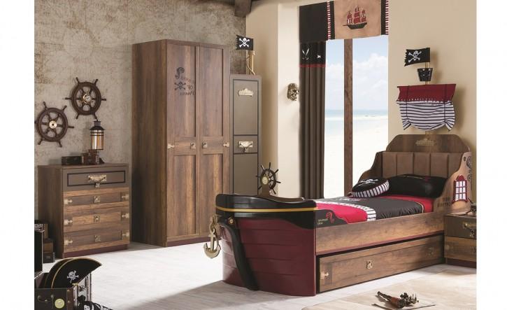 Kinderzimmer Korsan Pirat in braun Komplettzimmer 3 set