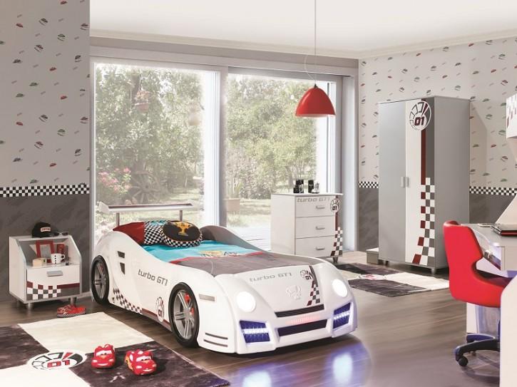 Autobett Kinderzimmer in weiss GT1 Autobettzimmer