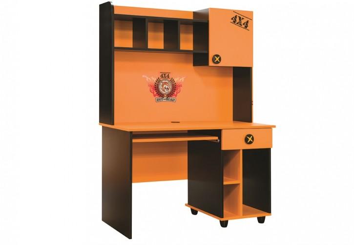 Schreibtisch inkl. Aufsatz Offroad Hamer in orange schwarz