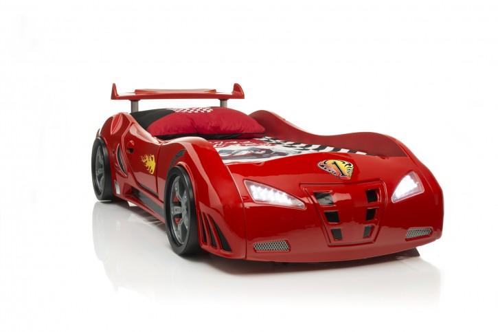 Autobett M3 Redcar in rot mit Spoiler