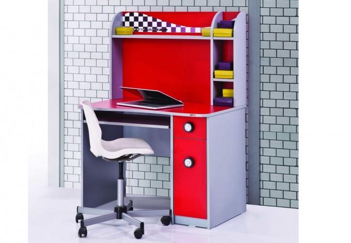 Schreibtisch Racer inkl. Aufsatz in rot für Kinderzimmer