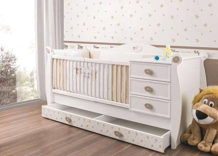 Babybett 70x130 cm Rabbit in weiss für Babyzimmer