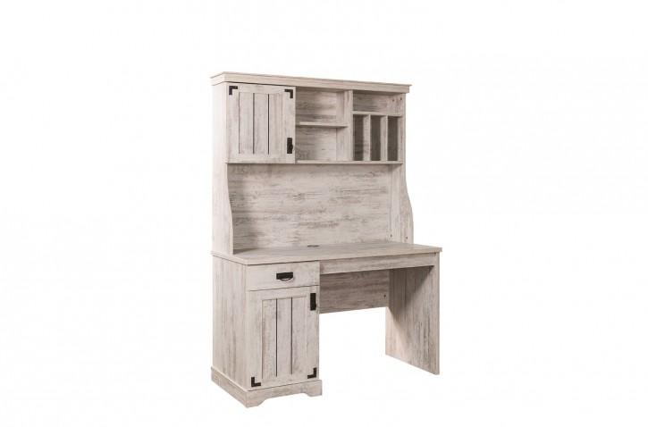 Schreibtisch inkl. Aufsatz Woodlife weiss im Landhausstil