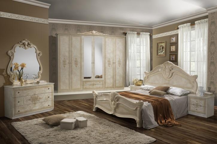 Schlafzimmer Amalia in beige creme klassik italienisch