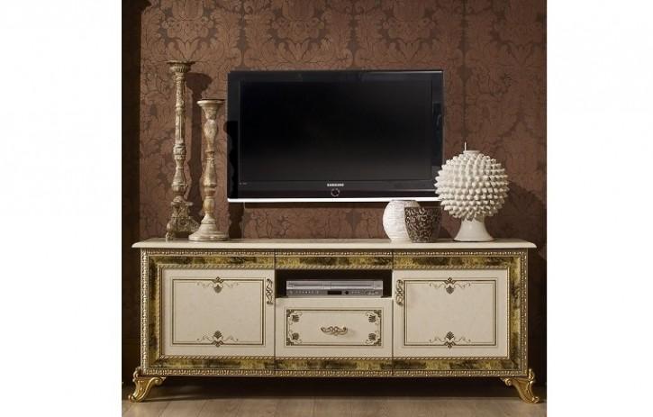 Tv Unterschrank Karla Beige Gold Italien Luxus Fr Wohnzimmer