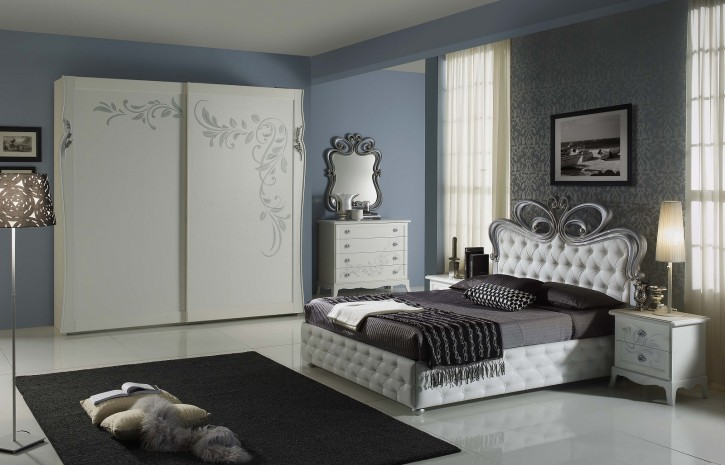 schlafzimmer perle in weiss creme luxus pe set. Black Bedroom Furniture Sets. Home Design Ideas