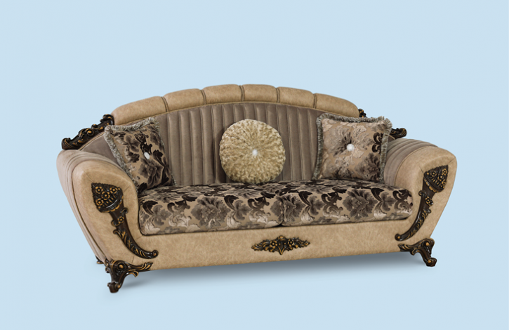 Couch Mirac 3er braun Klassik Barockstil Orient