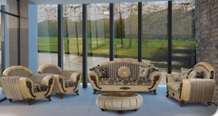 Sitzgruppe Mirac braun Klassik Barockstil Orient