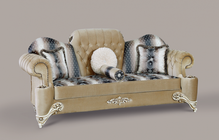 Couch Hürrem 3er beige Klassik Barockstil Orient