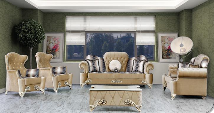 Sitzgruppe Hürrem beige Klassik Barockstil Orient