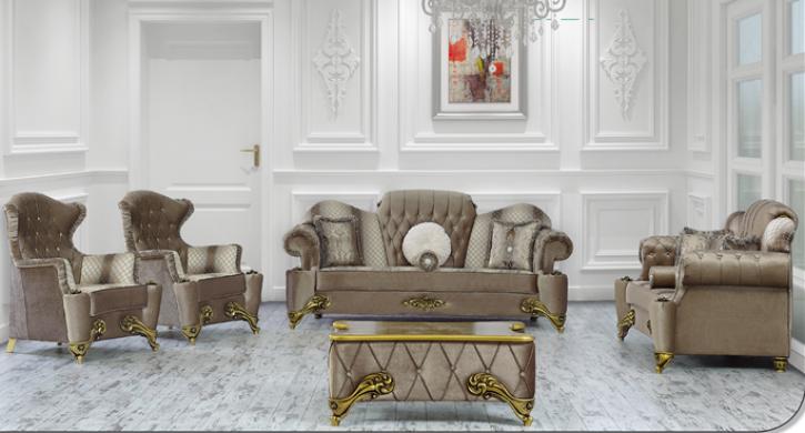Sitzgruppe Hürrem 3er grau Klassik Barockstil Orient