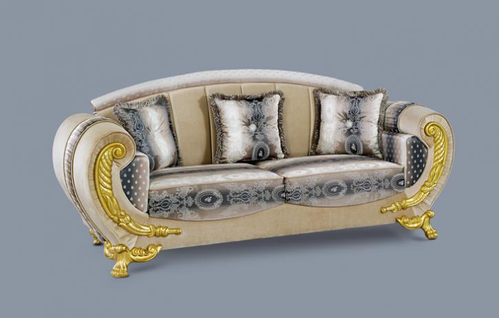Couch Galaksi 3er beige gold Klassik Barockstil Orient